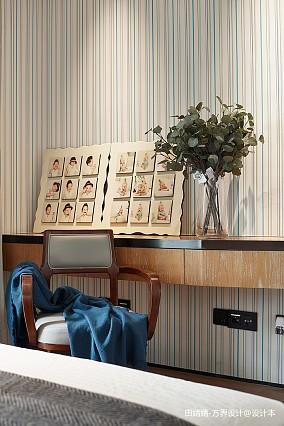 轻奢298平中式别墅卧室装修装饰图