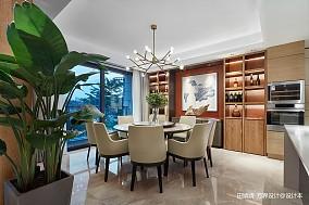 新中式素雅餐厅设计厨房中式现代设计图片赏析