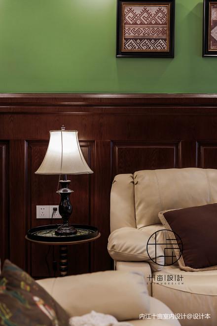 大气85平美式三居客厅装修美图