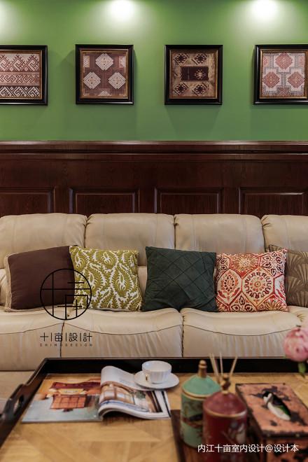 浪漫72平美式三居客厅效果图片大全