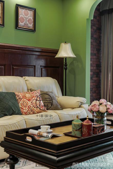 浪漫93平美式三居客厅设计图