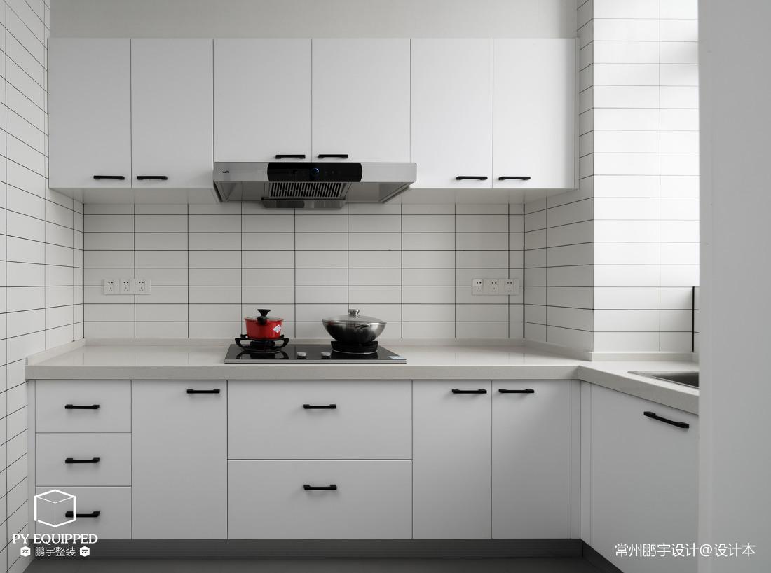 质朴115平北欧三居厨房实拍图餐厅北欧极简厨房设计图片赏析