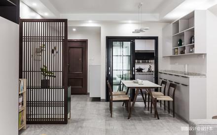 典雅118平现代三居餐厅设计效果图厨房