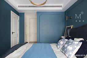 明亮118平美式三居卧室实拍图