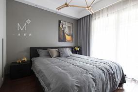 优雅98平现代三居卧室装修案例三居现代简约家装装修案例效果图