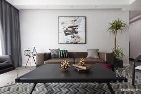 温馨72平现代三居客厅装修美图三居现代简约家装装修案例效果图