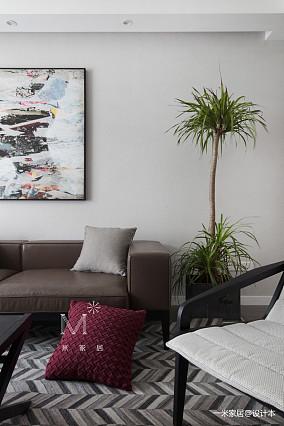 浪漫89平现代三居装饰图三居现代简约家装装修案例效果图