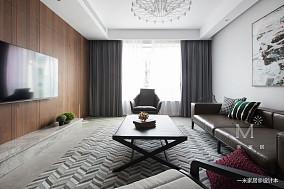 130m²现代客厅设计图三居现代简约家装装修案例效果图