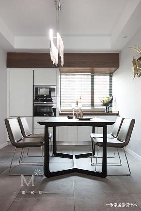 平现代三居餐厅美图三居现代简约家装装修案例效果图