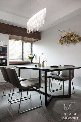 精致102平现代三居餐厅效果图片大全三居现代简约家装装修案例效果图