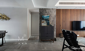 华丽99平现代三居效果图三居现代简约家装装修案例效果图