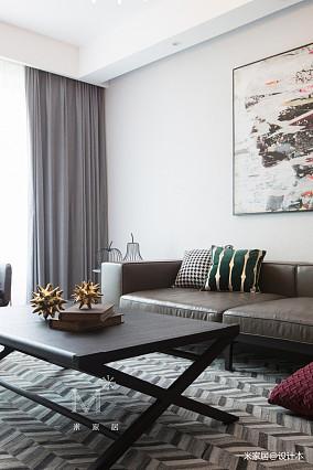 质朴91平现代三居设计效果图三居现代简约家装装修案例效果图