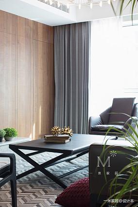 明亮121平现代三居装潢图家装装修案例效果图