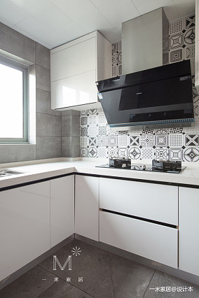 精致87平现代三居厨房布置图三居现代简约家装装修案例效果图