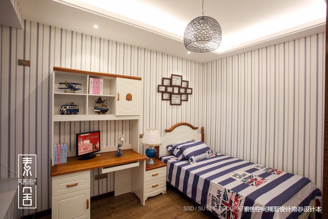 质朴64平新古典二居儿童房图片大全卧室美式经典卧室设计图片赏析