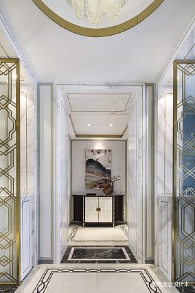 精致86平现代三居玄关美图三居现代简约家装装修案例效果图