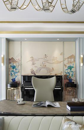 华丽123平现代三居客厅图片大全三居现代简约家装装修案例效果图