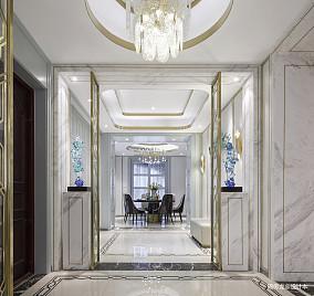 悠雅105平现代三居餐厅装修效果图三居现代简约家装装修案例效果图