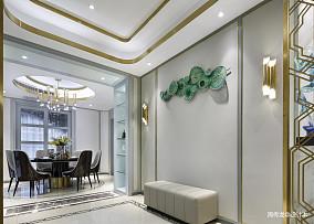 优美118平现代三居餐厅装饰图三居现代简约家装装修案例效果图