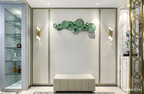 质朴111平现代三居玄关效果图三居现代简约家装装修案例效果图