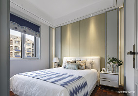 简洁72平现代三居卧室装潢图三居现代简约家装装修案例效果图