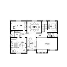 质朴214平中式别墅案例图