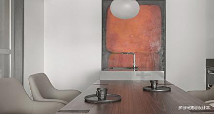 精致180平简约三居餐厅装饰图三居现代简约家装装修案例效果图