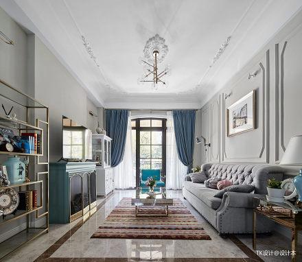 精美220平法式复式客厅布置图复式欧式豪华家装装修案例效果图