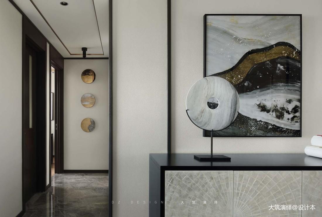 悠雅78平中式三居玄关实景图片玄关中式现代玄关设计图片赏析