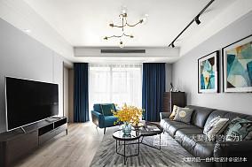 温馨125平北欧三居客厅装修图片