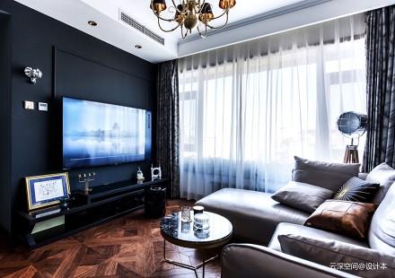 201965平新古典二居客厅效果图欣赏二居美式经典家装装修案例效果图