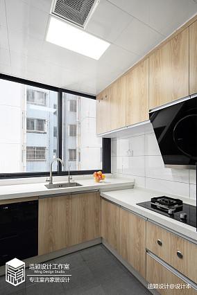 华丽67平北欧二居厨房实景图餐厅北欧极简设计图片赏析