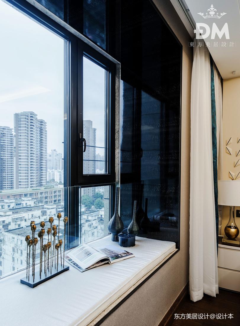 低奢大平层卧室飘窗设计卧室现代简约卧室设计图片赏析