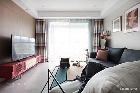 精美24平现代小户型客厅实景图一居现代简约家装装修案例效果图