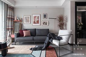 精美21平现代小户型客厅装修效果图一居现代简约家装装修案例效果图
