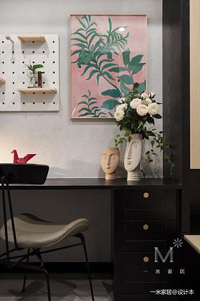 精致38平现代小户型装修设计图一居现代简约家装装修案例效果图