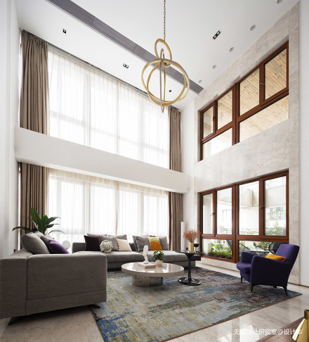 优美69平现代复式客厅装修美图