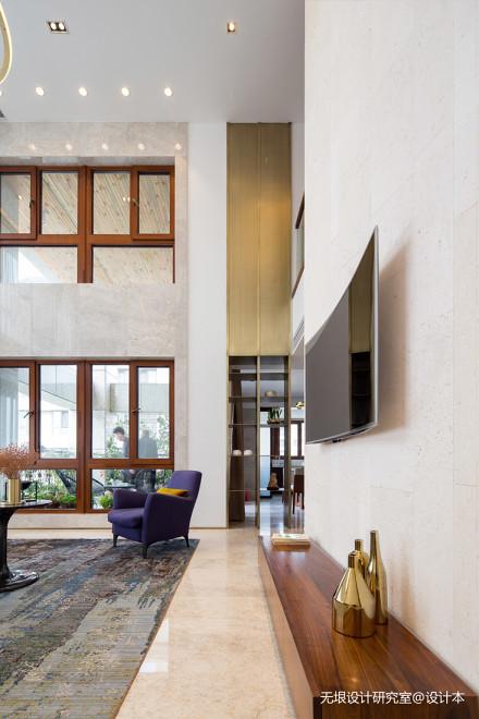 明亮79平现代复式客厅效果图片大全复式现代简约家装装修案例效果图