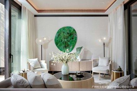 质朴360平现代别墅客厅装修案例别墅豪宅现代简约家装装修案例效果图
