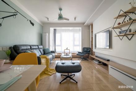 精致77平北欧二居客厅装修装饰图