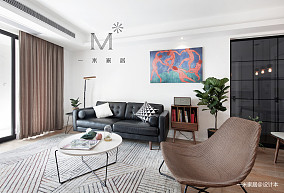 优雅63平现代二居客厅装修效果图二居现代简约家装装修案例效果图