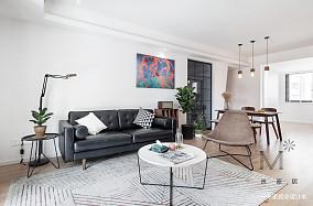 优美69平现代二居客厅装修图二居现代简约家装装修案例效果图