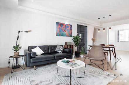 优美69平现代二居客厅装修图