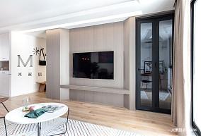 135㎡现代简约背景墙设计图二居现代简约家装装修案例效果图