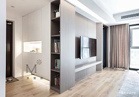 简洁79平现代二居效果图二居现代简约家装装修案例效果图