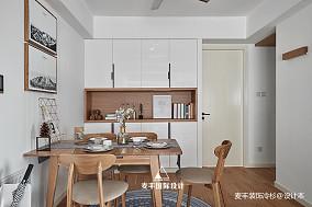 華麗90平北歐三居餐廳設計圖