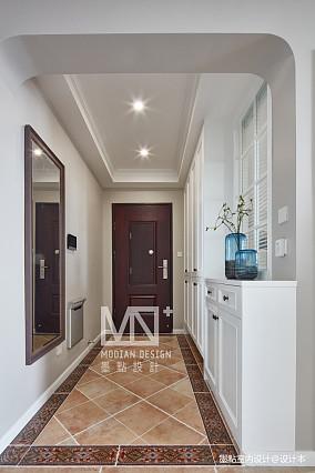 温馨109平美式四居玄关设计案例四居及以上美式经典家装装修案例效果图