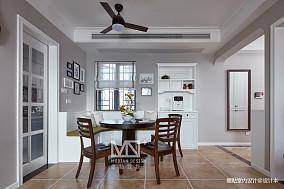 温馨130平美式四居餐厅装潢图四居及以上美式经典家装装修案例效果图