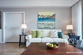 优美113平美式四居客厅装饰图四居及以上美式经典家装装修案例效果图