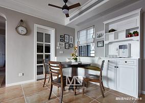 温馨95平美式四居餐厅装潢图四居及以上美式经典家装装修案例效果图